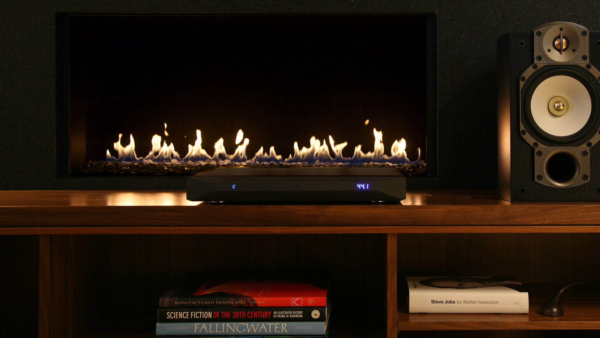 NuPrime - IDA-16 - Integrated - Amplifier - DAC - Singularity Audio Imports - Lifestyle - Coffee - Fireplace